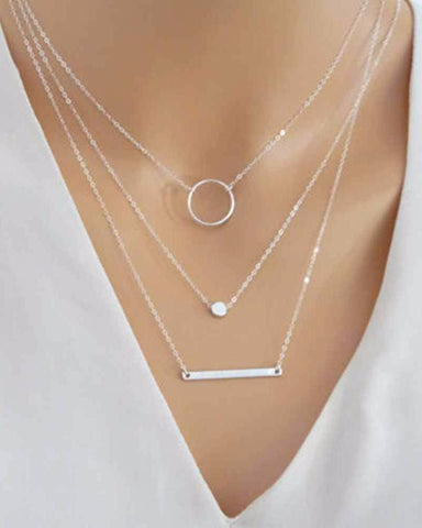 Stunning Triple Layered Necklace