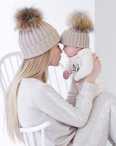 Mom And Bub Matching Beanies (2 Pieces)