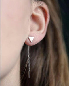 Dainty And Chic Triangle Threader Earrings