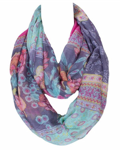 Infinity Loop Scarf Gypsy Forest