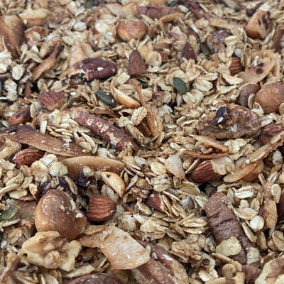 Seriously Delicious Health Granola  I  Low FODMAP, Gluten Free, Vegan (if using maple syrup)
