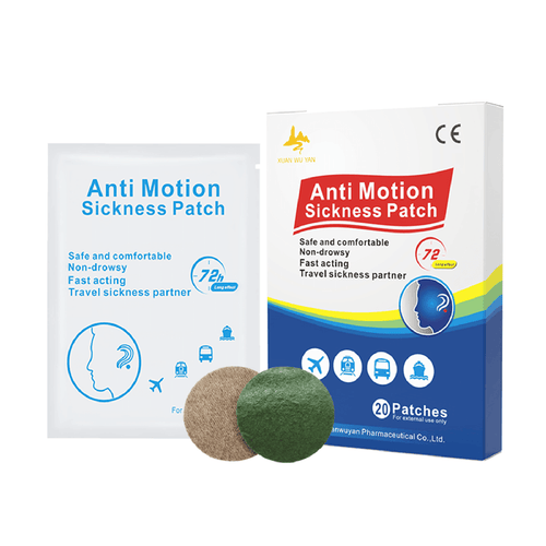 ANTI MOTION SICKNESS PATCH - RELIEF UP TO 72 HOURS - 20 PATCHES