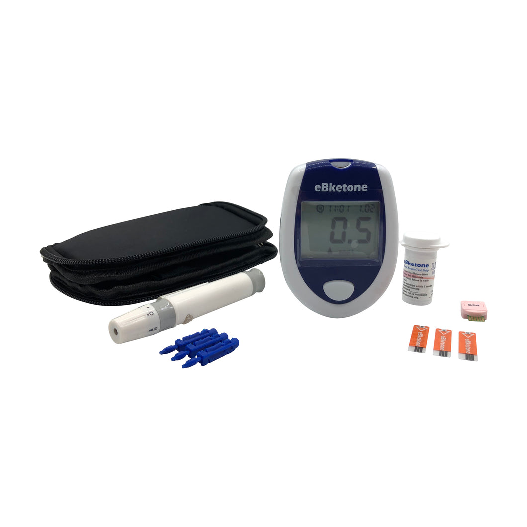 VISGENEER - BLOOD KETONE METER STARTUP KIT WITH TEN (10) KETONE STRIPS