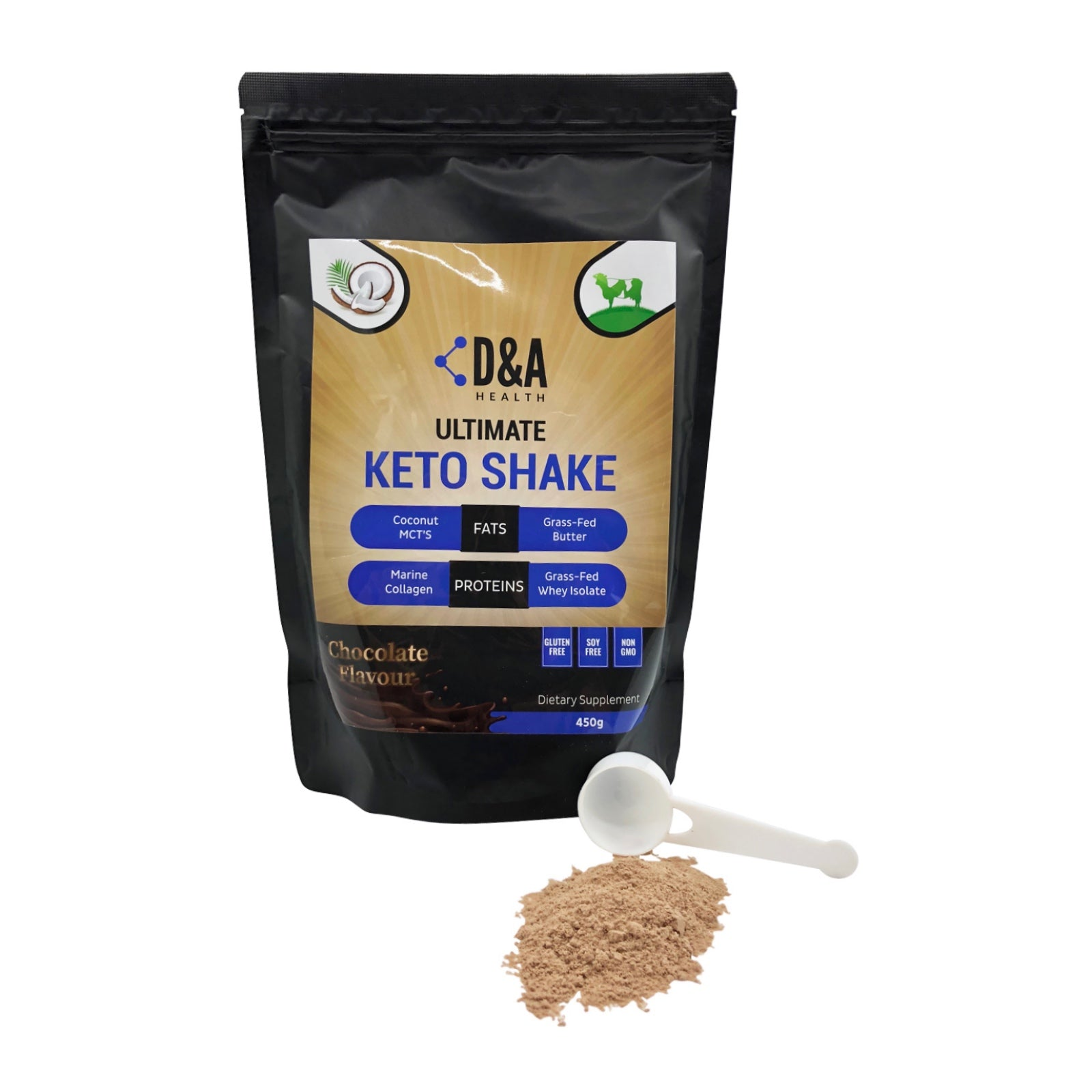 D&A HEALTH - ULTIMATE KETO SHAKE (450G) - CHOCOLATE