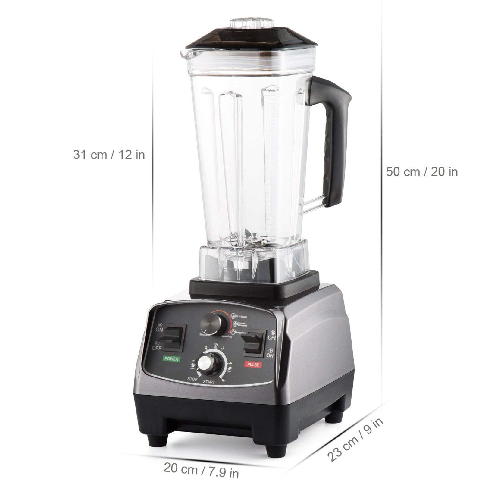D&A HEALTH - ULTIMATE TURBO BLENDER - 2,200W & 2,000ML JUG