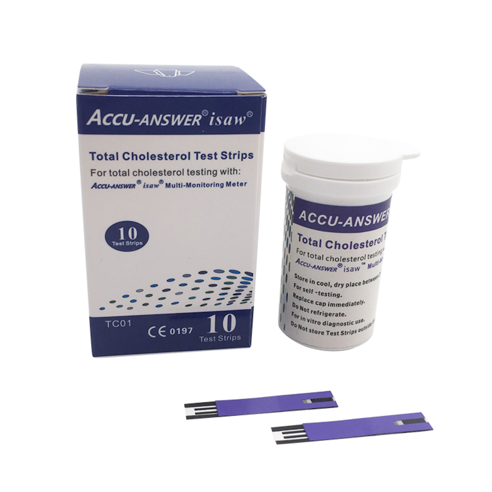 ACCU-ANSWER® ISAW® TOTAL CHOLESTEROL BLOOD TEST STRIPS (10 or 25)