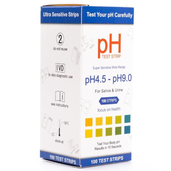 URS- pH 4.5 - pH 9.0 - URINE/SALIVA/WATER - 100 STRIPS