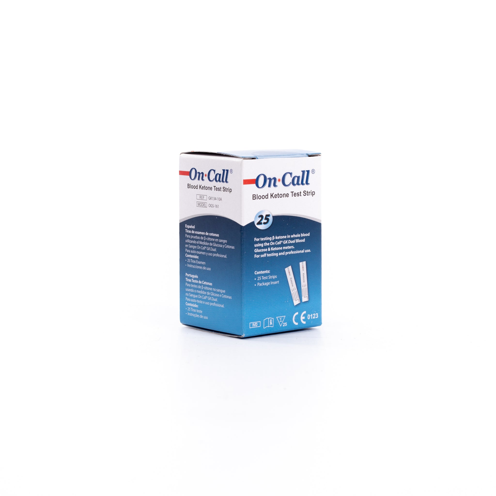On Call® GK Dual Blood Ketone Test Strips (25)