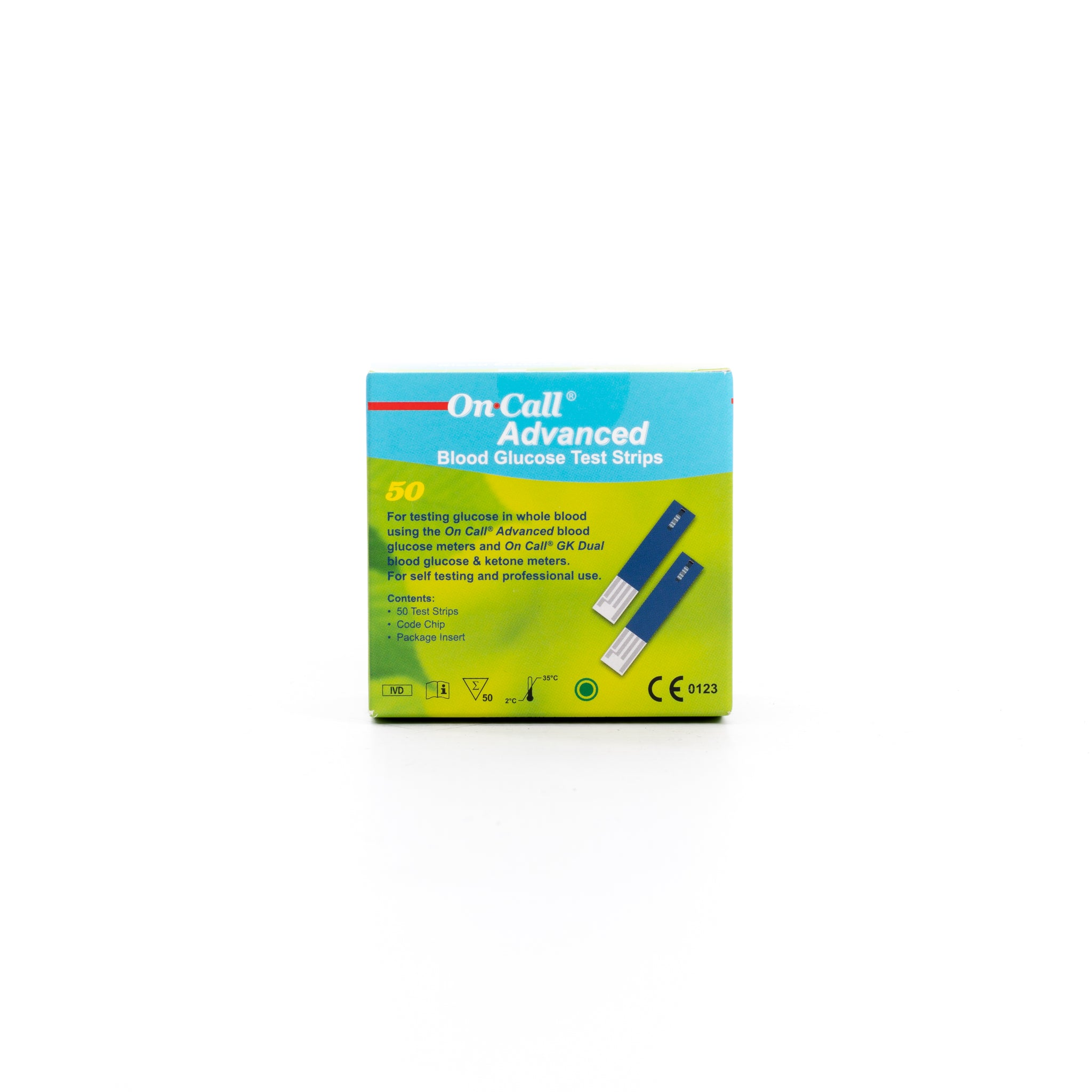 ON CALL® ADVANCED BLOOD GLUCOSE TEST STRIPS (50)