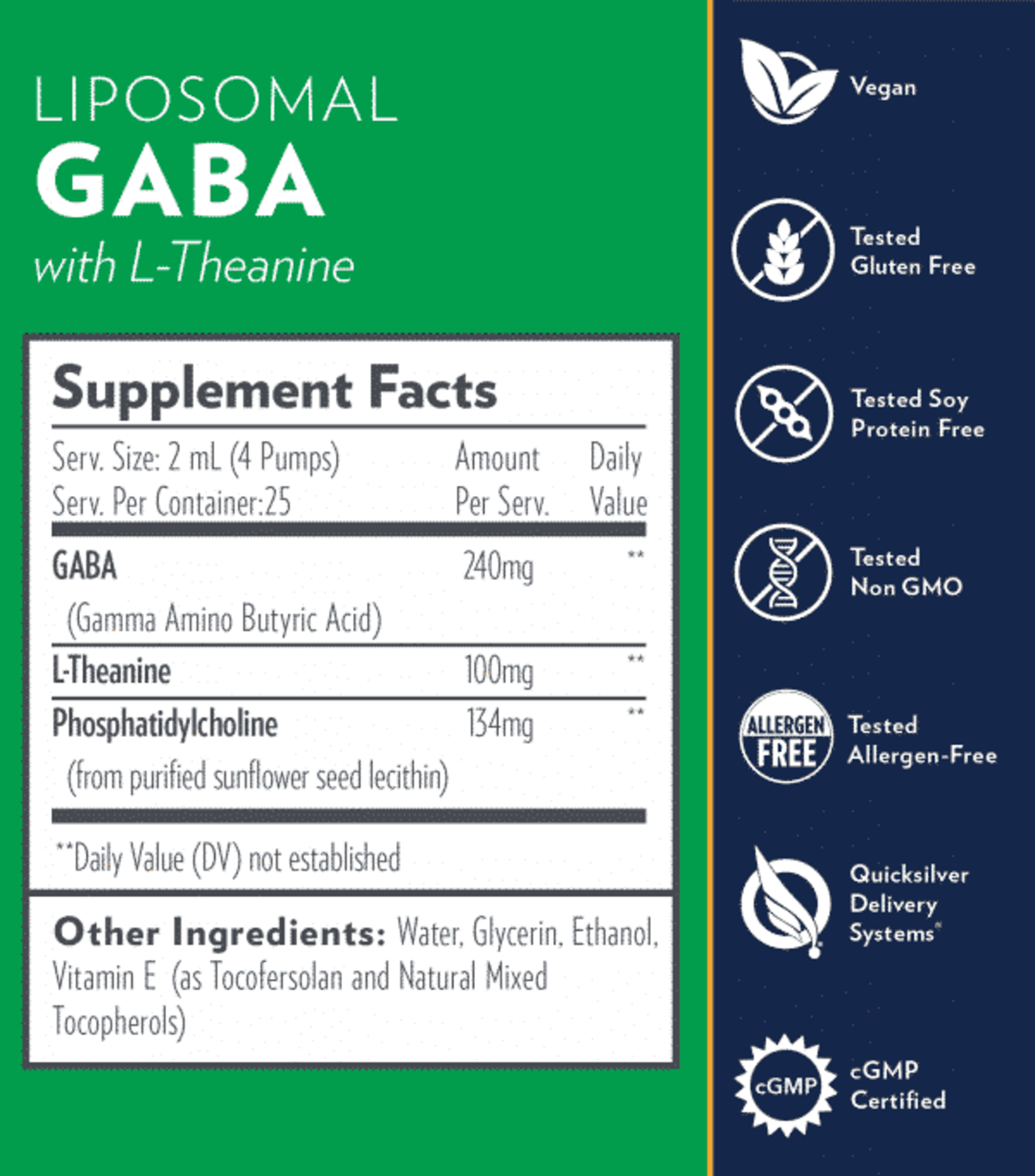 QUICKSILVER SCIENTIFIC - GABA + L-THEANINE (50ML)