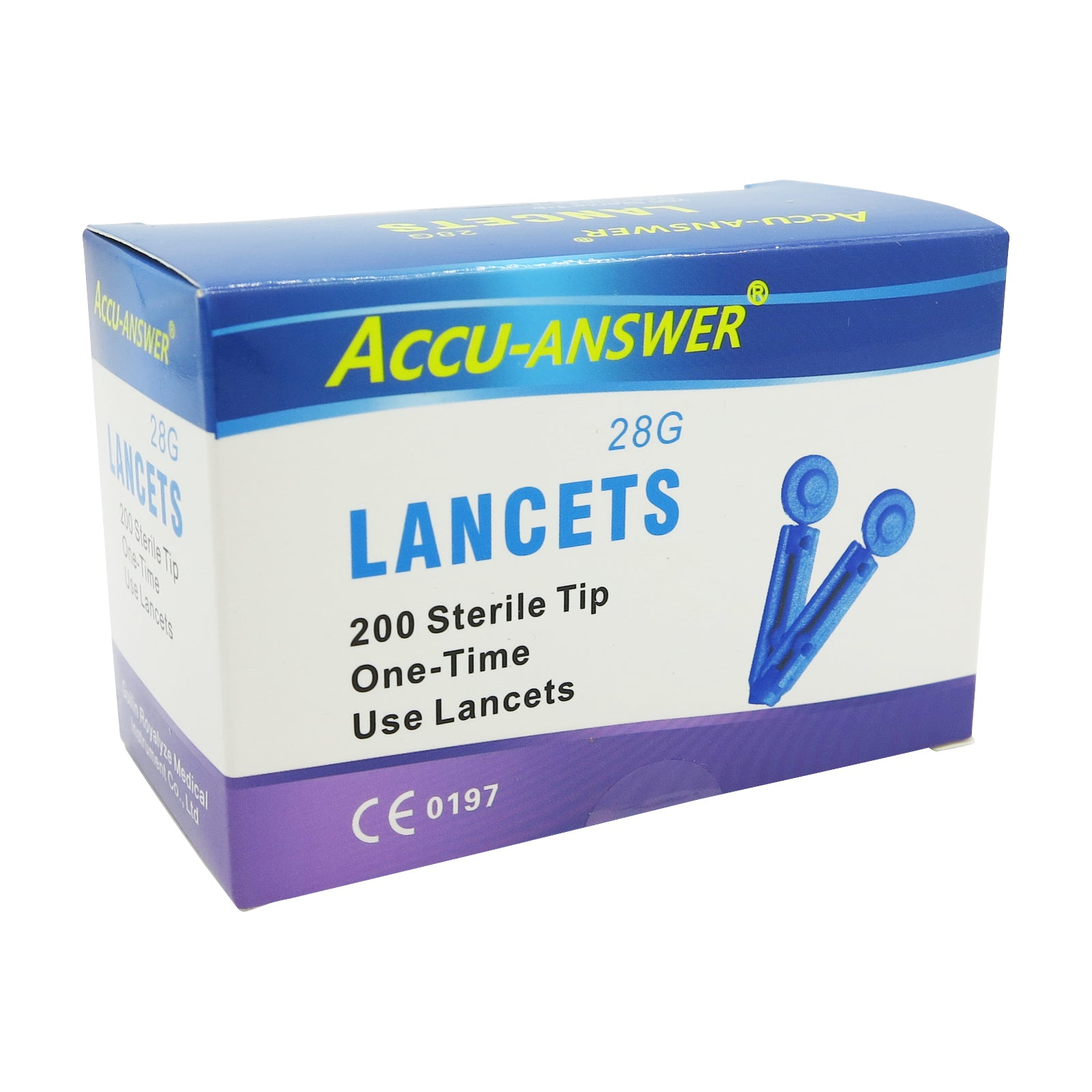 ACCU-ANSWER® - LANCETS (28G) - BOX OF 200