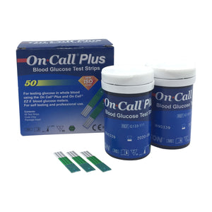 ON CALL® PLUS BLOOD GLUCOSE TEST STRIPS (50)