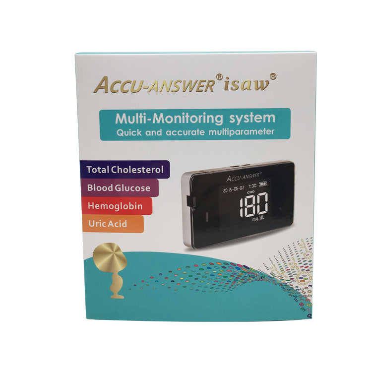 ACCU-ANSWER® isaw® Cholesterol, Glucose, Hemoglobin & Uric Acid Blood Test Meter