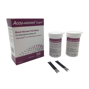 ACCU-ANSWER® ISAW® BLOOD GLUCOSE TEST STRIPS (50)