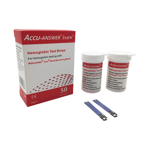 ACCU-ANSWER® ISAW® HEMOGLOBIN BLOOD TEST STRIPS (50)