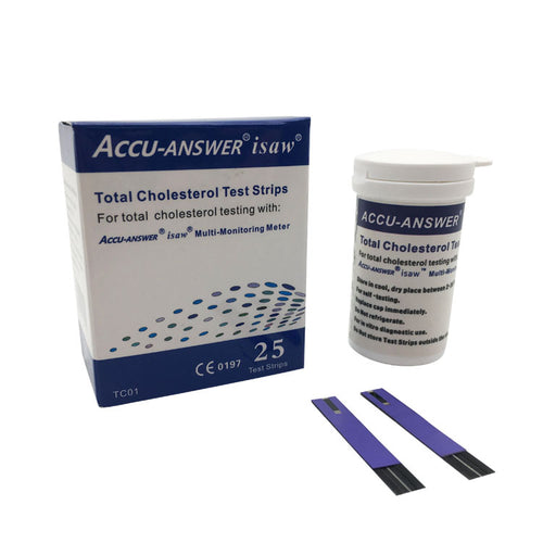 ACCU-ANSWER® isaw® Total Cholesterol Blood Test Strips (25)