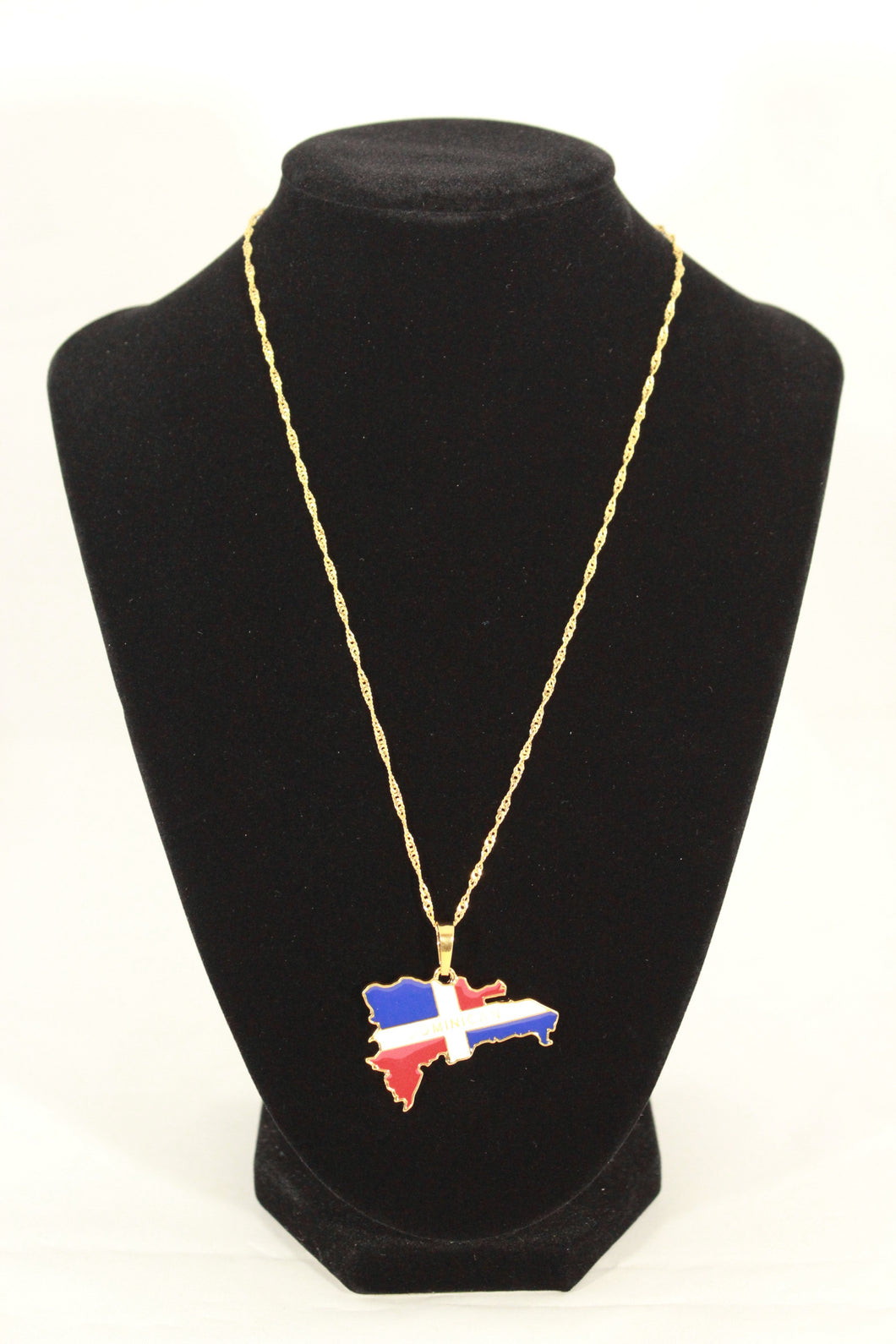 DOMINICAN REPUBLIC MAP PENDANT