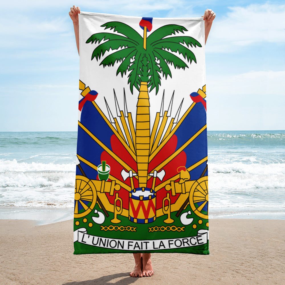 Haiti Coats Of Arms Towel