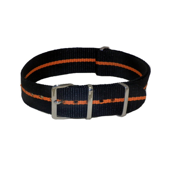 black/orange 20mm nato strap