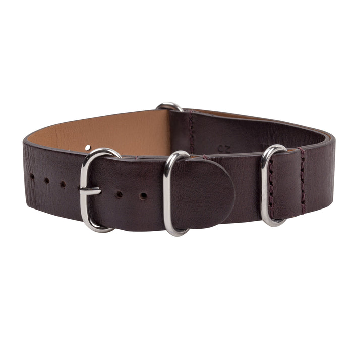 Brown Leather Zulu NATO Strap