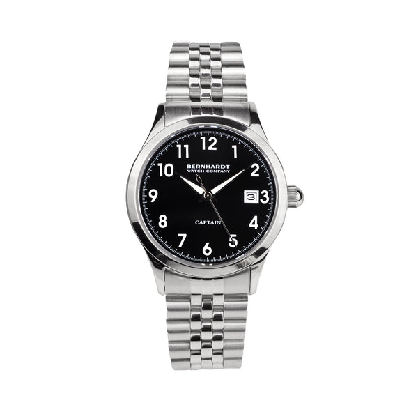Captain's Watch - Black/Silver