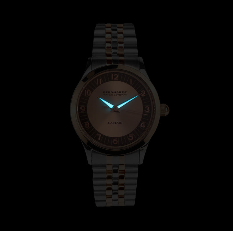 Captain's Watch - Rose Gold/Chocolate