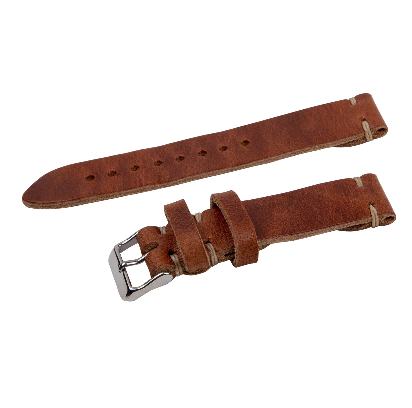 english tan leather strap