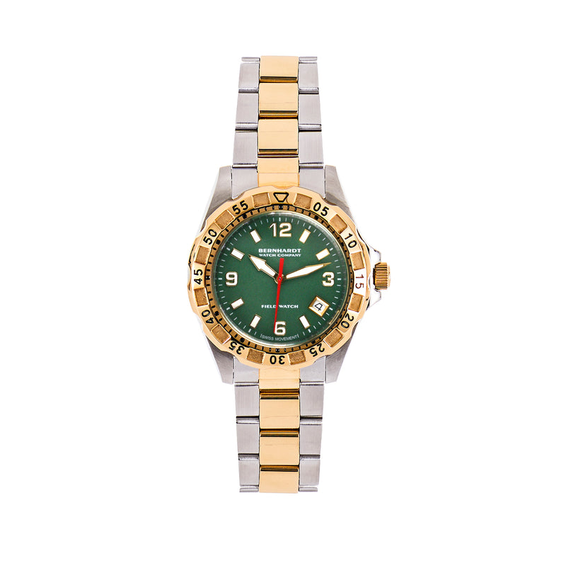 Women's Diver - Green/Gold