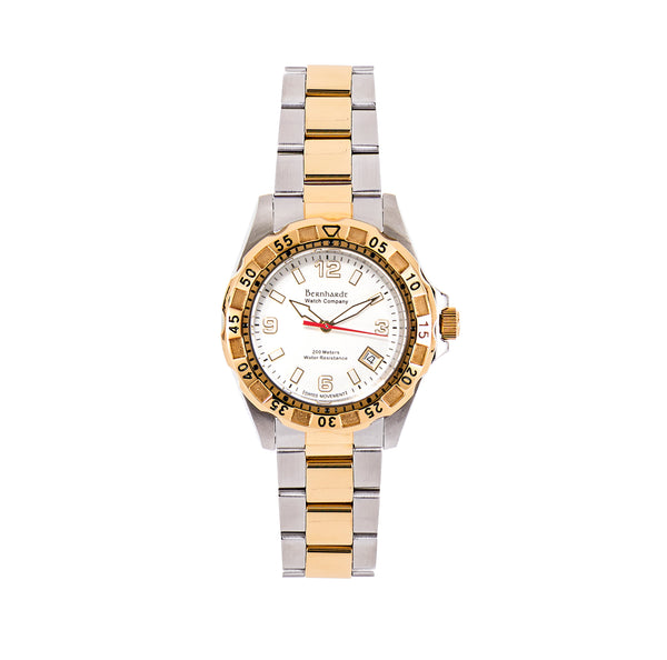 Women's Diver - White/Gold