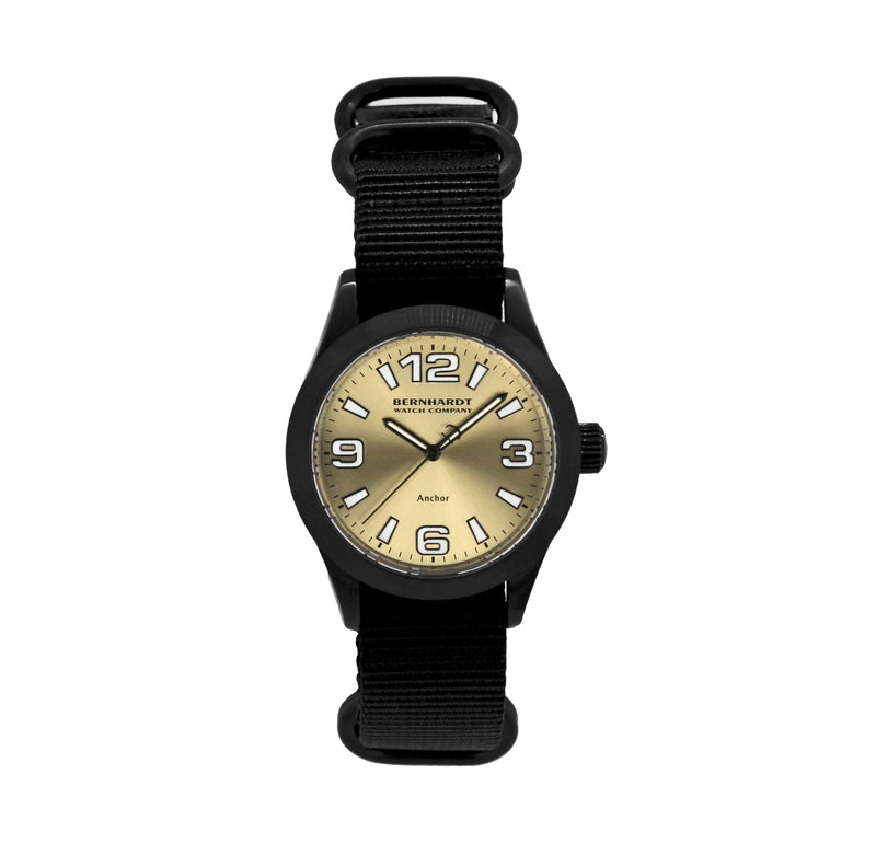 Binnacle Anchor - Black/Champagne Gold