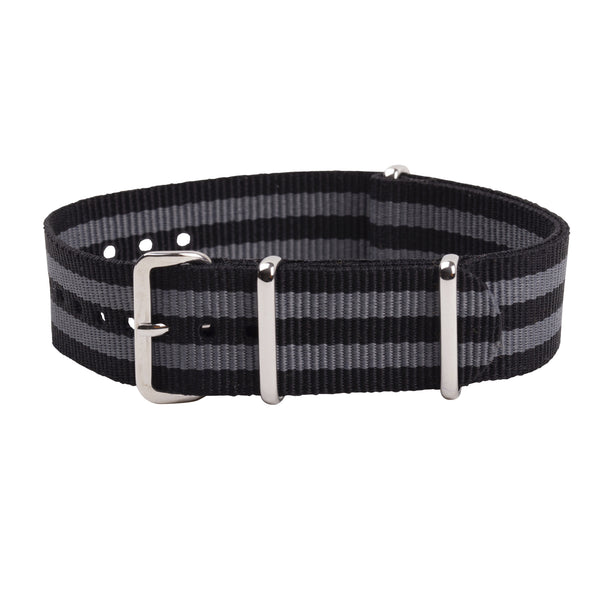 black/grey bond nato strap