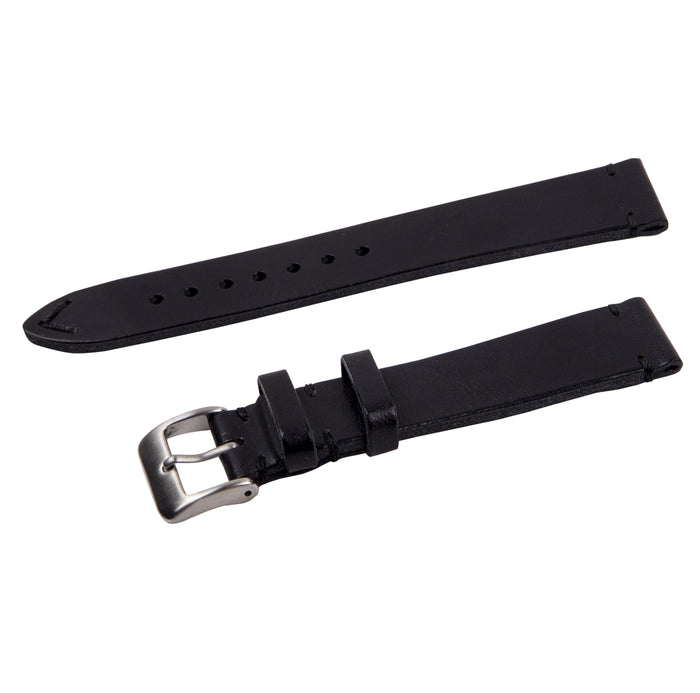 black vintage leather strap