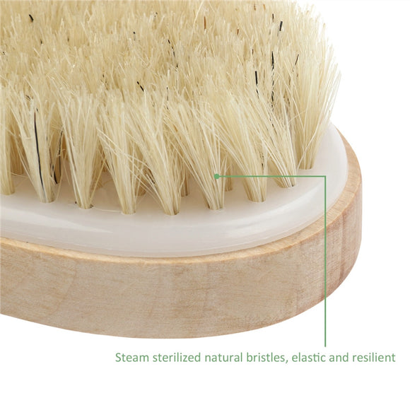 Wooden Bath Shower Bristle Brush SPA Body Brush without Handle