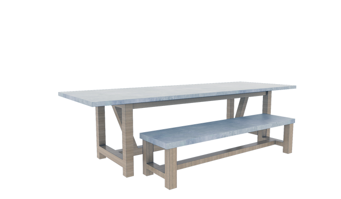 Table & Bench Set 4