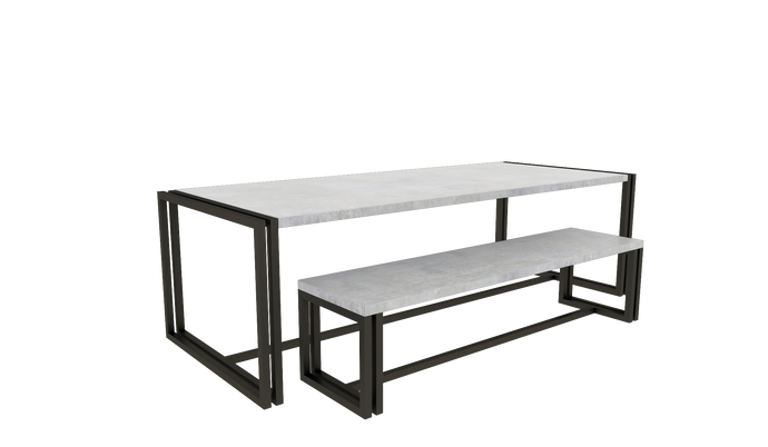 Table & Bench Set 2