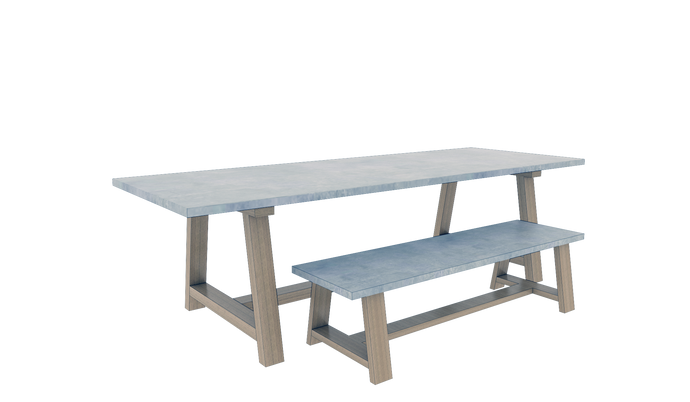 Table & Bench Set 6
