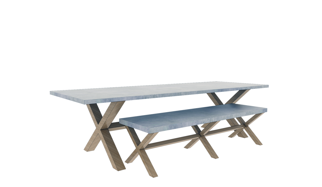 Table & Bench Set 7