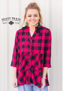 Buffalo Plaid Top from Crazy Train