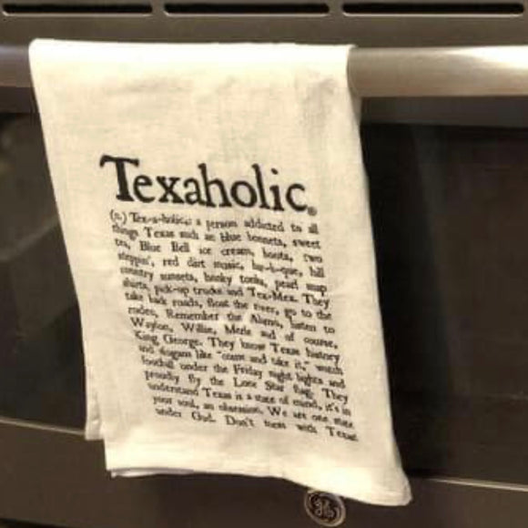 Texaholic Dish Towel
