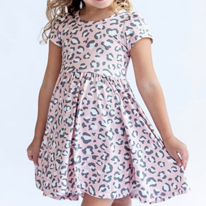 Pink Leopard Twirly Dress