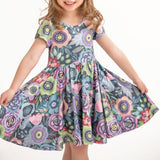 twirly dress floral glory