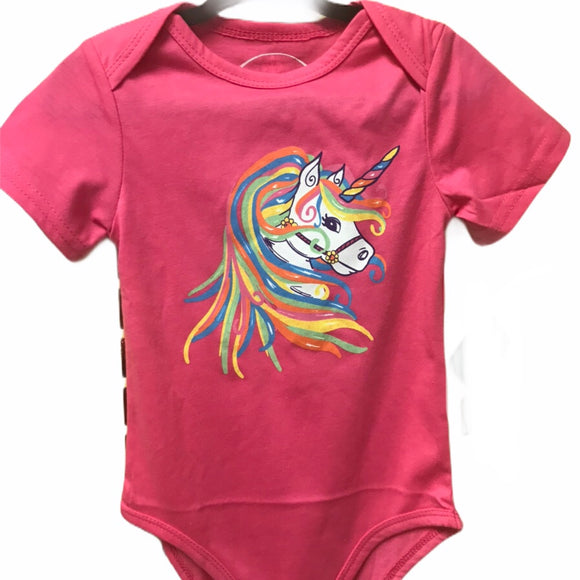 Rainbow Unicorn Baby Playsuit