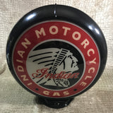 Indian Motorcycle Gas Reproduction Gas Pump Globe, Glass Lenses
