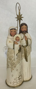 Jim Shore Golden Garland Holy Family Nativity