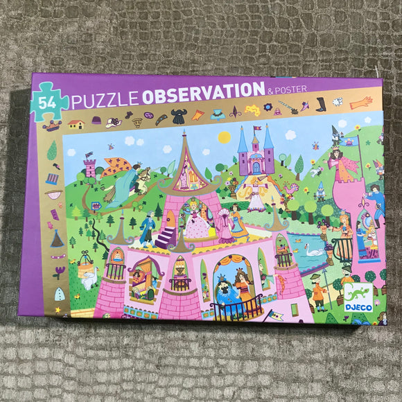 "DJeco ""Princess Observation"" 54 Piece Puzzle"