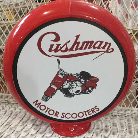 Cushman Motor Scooters Reproduction Gas Pump Globe Sign