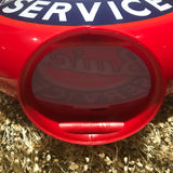 Buick Authorized Service Reproduction Gas Pump Globe, Glass Lenses