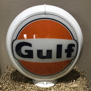 Gulf Reproduction Gas Pump Globe, Glass Lenses