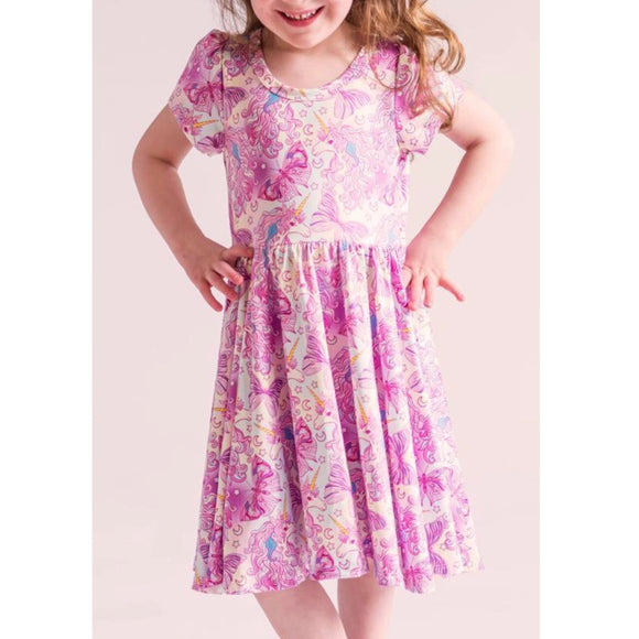 Unicorns and butterflies twirly dress