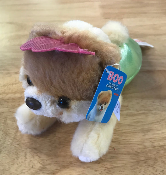 Boo Plush Dog in Mermaid Costume